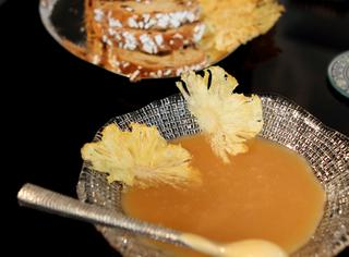Veneziana con salsa al caramello di ananas