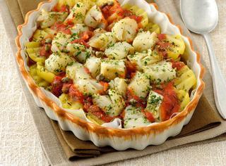 Torta di patate e baccalà