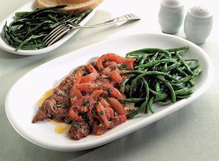 Bistecche in umido con fagiolini