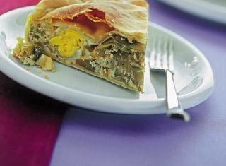 Torta con uova e ricotta