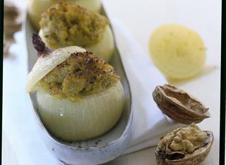 Cipolle ripiene di gorgonzola e zucca