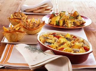 Frittata di patate, cipolle e pane