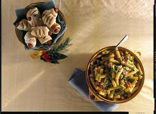 Sedanini con zucchine e gamberetti