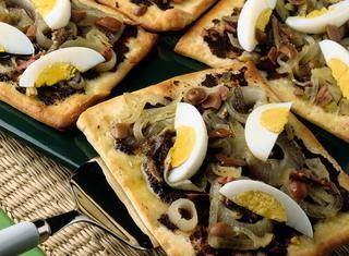 Ricetta Pizzette al paté di olive