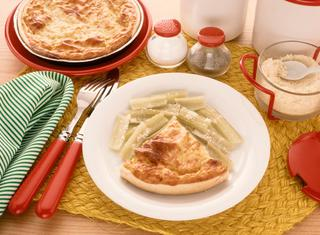 Torta rustica al formaggio e prosciutto
