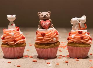 Ricetta Cupcake romantici con crema al burro rosa