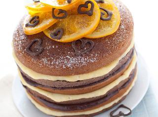 Ricetta Torta doppia all'arancia e cioccolato