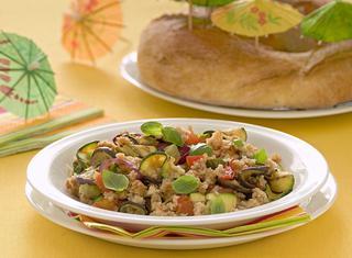 Panzanella con verdure grigliate