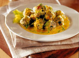 Polpette con salsa al curry