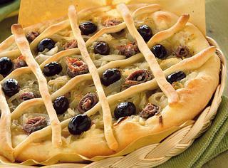 Pizza alla francese con cipolla
