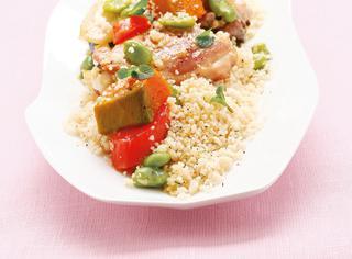 Cous cous con pollo e verdure speziate