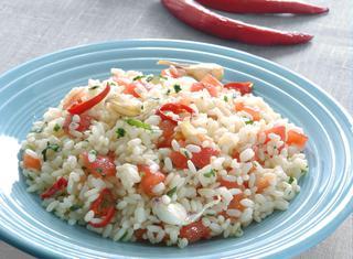 Riso aglio, olio e peperoncino