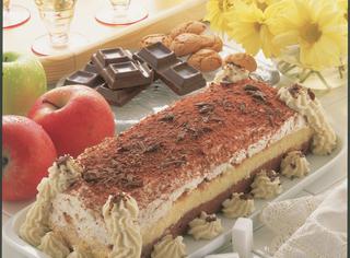Torta di panna e cioccolato