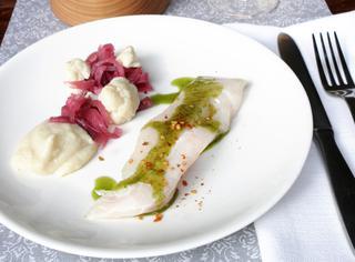 Filetto di merluzzo con purè di cavolfiore