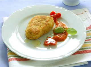 Finte cotolette e salsa di peperoni