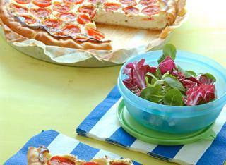 Torta salata di ricotta e pomodorini