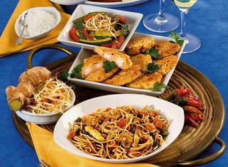 Noodles fritti con verdure piccanti