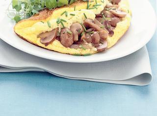 Omelette con champignon