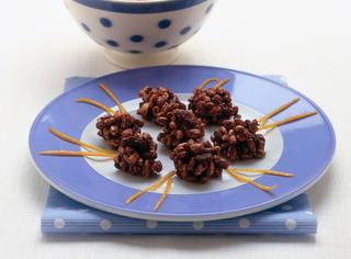 Dolcetti al riso soffiato e cioccolato