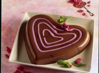 Cuore di budino al cioccolato