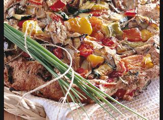 Ricetta Focaccia integrale con verdure