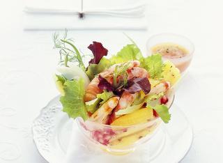 Cocktail di gamberi e frutta
