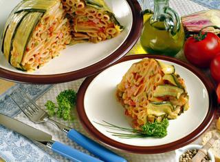 Sformato di pasta alle verdure