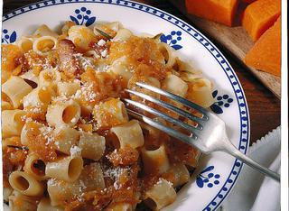 Pasta con zucca e pancetta