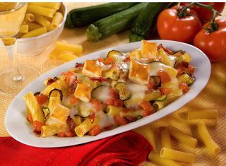 Maccheroncini speck e zucchine