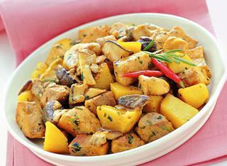 Ricetta Spezzatino di maiale alla silana con funghi e patate