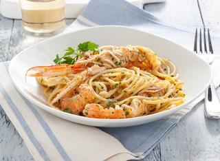 Ricetta Spaghetti alla busara bianca