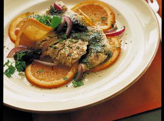 Filetti di salmone al profumo di arancia