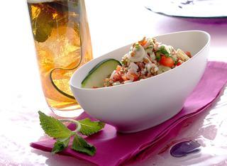 Taboulé di riso bianco e rosso
