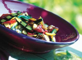 Verdure grigliate con salsa alla menta