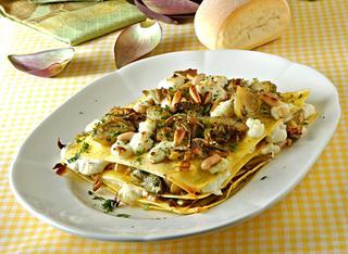 Millefoglie di lasagne ai carciofi