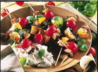 Ricetta Spiedini di ortaggi al forno
