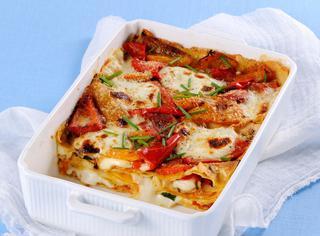Lasagne di carasau ai peperoni