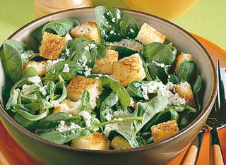 Ricetta Insalata verde con crostini