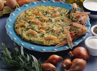 Ricetta Tortino di scampi e zucchine
