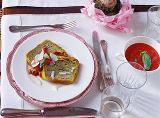 Millefoglie di lasagne al pesto