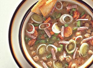 Zuppa di porri e ceci