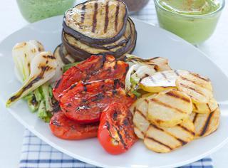 Ricetta Verdure grigliate con salse