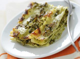Lasagne con ragù in verde