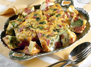 Frittata di patate e broccoli