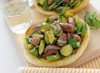 Ricetta Arabo con funghi e salsiccia