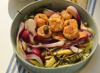 Ricetta Polpette di pollo e verdure in carpione