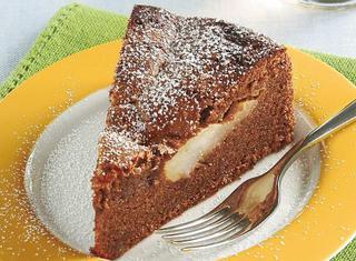 Ricetta Torta di amaretti e cioccolato con pere