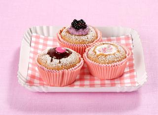 Muffin ripieni ai tre gusti
