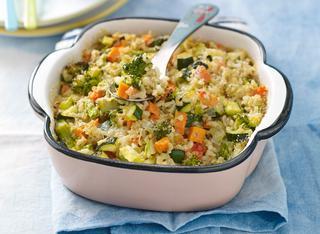 Riso al forno con verdure miste