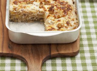 Ricetta Lasagne di polenta con radicchio e noci
